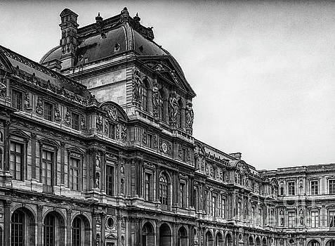 Wayne Moran - The Louvre Museum Paris France BW Musee du Louvre