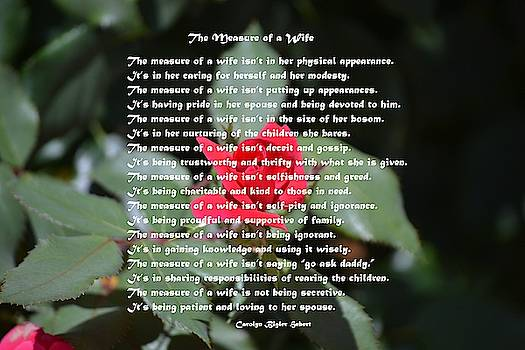 The Measure of a Wife - Poem on a Rose Bud by Carolyn Hebert