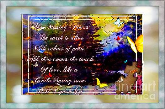 The Missing Pieces Poem and Painting by Debra Lynch