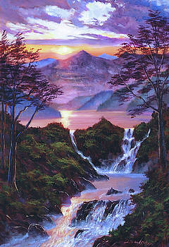 The Moment Of Serenity by David Lloyd Glover