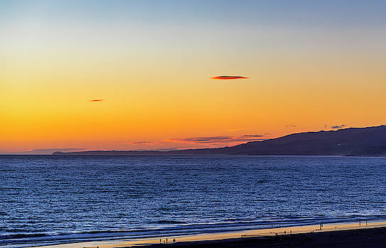 The Mother Ship Hovering Over Malibu by Gene Parks