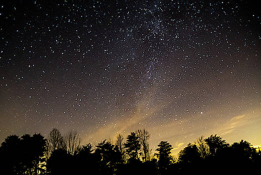 The Night Sky over Hocking Hills State Park by Ina Kratzsch