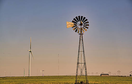 The Old and The New #windmills by Andrea Anderegg