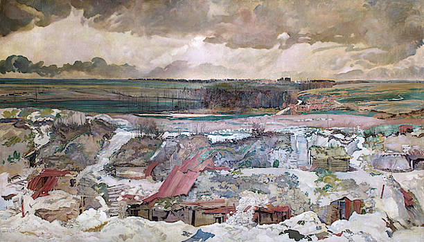 The Old German Front Line, Arras, 1916 by Charles Sims