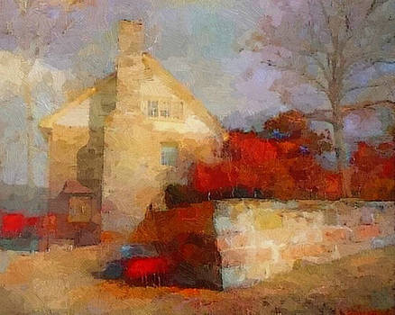 The Old Stone Mill by Don Berg