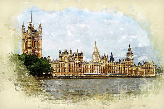 The Palace of Westminster by John Edwards