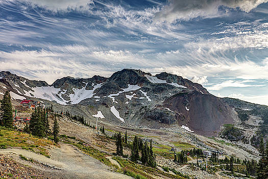 The Peak of Whistler Mountain with amazing Cloud formations by Pierre Leclerc Photography