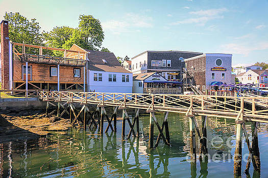 The Pier at Boothbay Harbor by Claudia M Photography