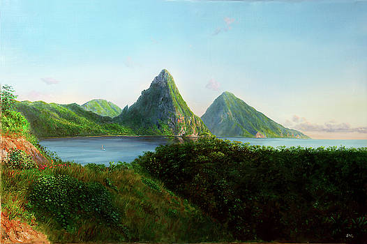 The Pitons by Jonathan Guy-Gladding JAG