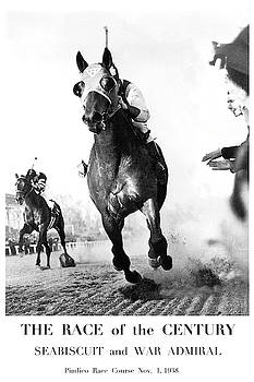 The Race of the Century, Seabiscuit and War Admiral, Pimlico Race Course by Thomas Pollart