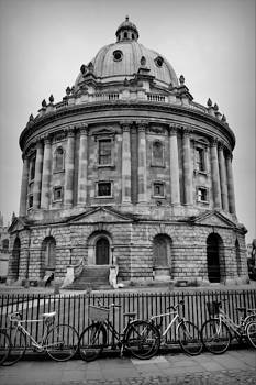 Marla McPherson - The Radcliffe Camera Building - Black and White