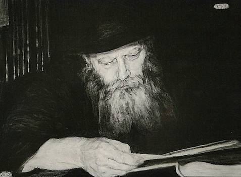 The Rebbe reads  by Michael Bloom