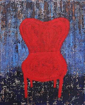 The Red Chair original painting by Sol Luckman
