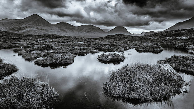 The Red Cuillin Hills by John Frid