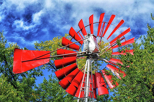 Natural Abstract Photography - The Red Windmill