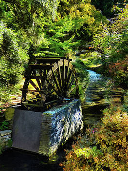 The Replica Waterwheel on Mill Island. by Steve Taylor