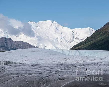 The Root Glacier and Mount Blackburn - Alaska by Jan Mulherin