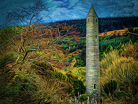 The Round Tower Glendalough by Paul Wear