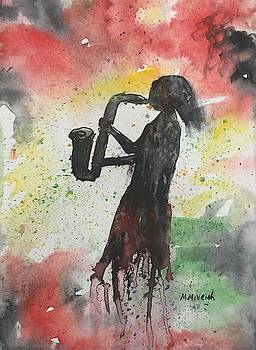 The Sax Player by Marita McVeigh