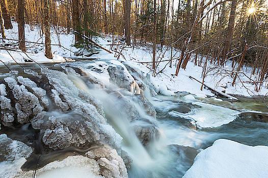 The Secret Waterfall - blue - frozen by Brian Hale
