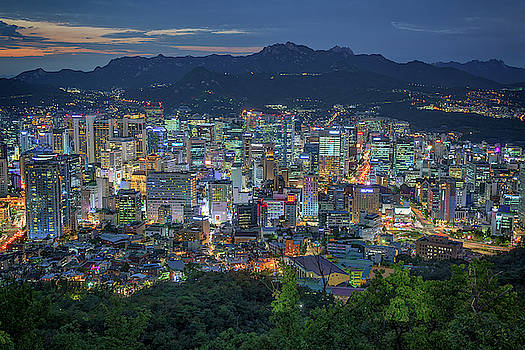 The Seoul Skyline by Rick Berk