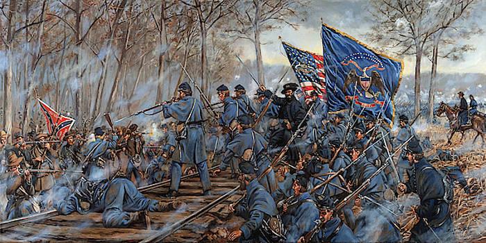 The Slaughter Pen Farm - Battle of Fredericksburg, Virginia by Mark Maritato