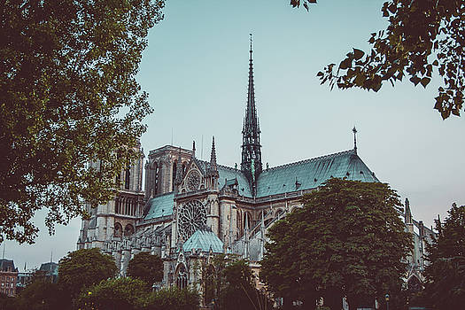 The Spire of Cathedral of Notre Dame Paris France by Harmeet Gabha