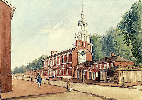 The State House in 1778 by William Breton