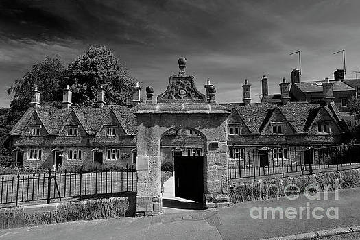 The stone built Almshouses by Dave Porter