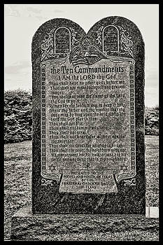 The Ten Commandments - Texas State Capitol Grounds by Allen Beatty