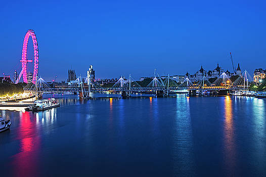 Toby McGuire - The Thames River at Night London UK