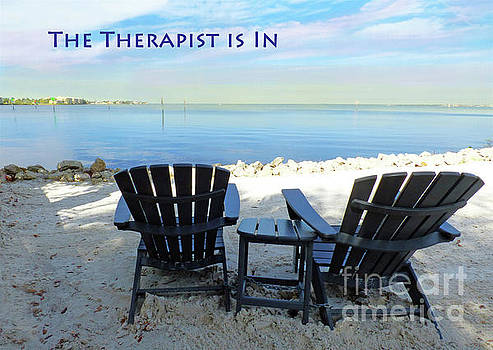 Sharon Williams Eng - The Therapist is In Beach Poster