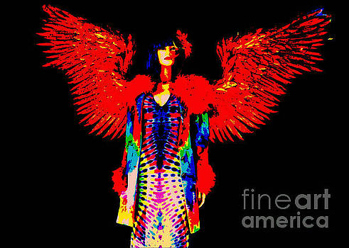 Diann Fisher - The Tie-dyed Angel #4 Red On Black