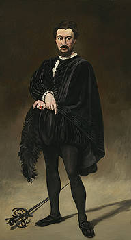 The Tragic Actor, Philibert Rouviere As Hamlet by Edouard Manet