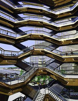 The Vessel - Hudson Yards # 12 - N Y C by Allen Beatty
