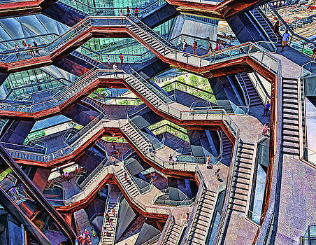 The Vessel - Hudson Yards # 6 - N Y C by Allen Beatty