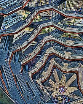 The Vessel - Hudson Yards # 9 - N Y C by Allen Beatty