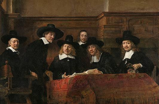The Wardens of the Amsterdam Drapers Guild by Rembrandt van Rijn