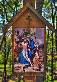 Thirteenth Station of the Cross - Jesus is Taken Down from the Cross - John 19, Verse 38 by Michael Mazaika
