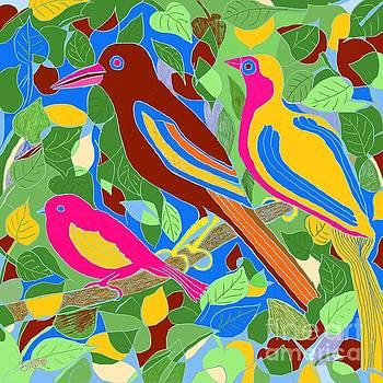Caroline Street - Three Birds on a Branch