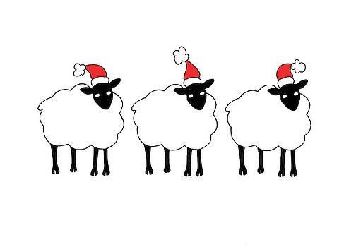 Three Christmas Sheep by Sarah Rosedahl
