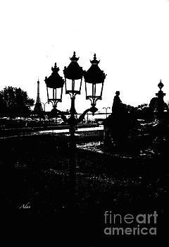 Felipe Adan Lerma - Three Lamps To The Eiffel Tower Paris Vertical