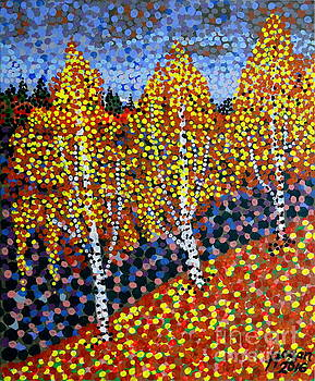 Three Little Birches by Alan J Hogan
