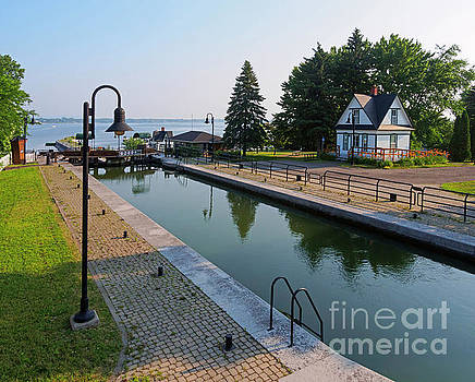 Three lock staircase in Chambly Quebec by Louise Heusinkveld