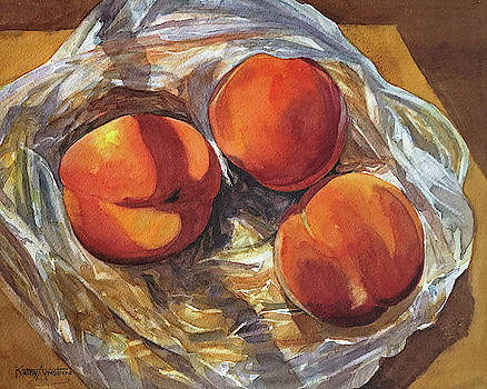 Three Peaches by Kathy Armstrong