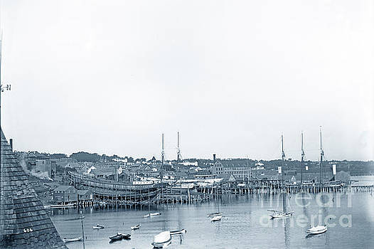 California Views Archives Mr Pat Hathaway Archives -  Three Vessels on   the Ways Pendleton shipyard in Belfast, Main