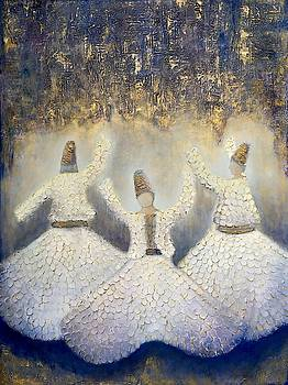 Three Whirling Dervishes II by Mariam Choudry