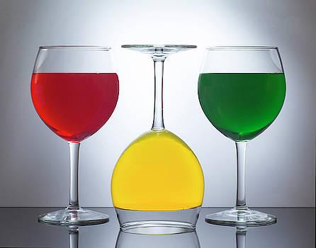 Three Wine Glasses by Eleanor Bortnick
