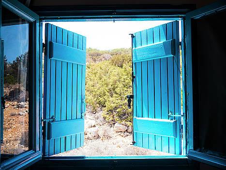 Through the Blue Shutters by Rae Tucker