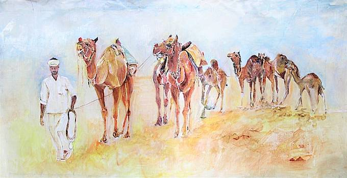Through the desert by Khalid Saeed